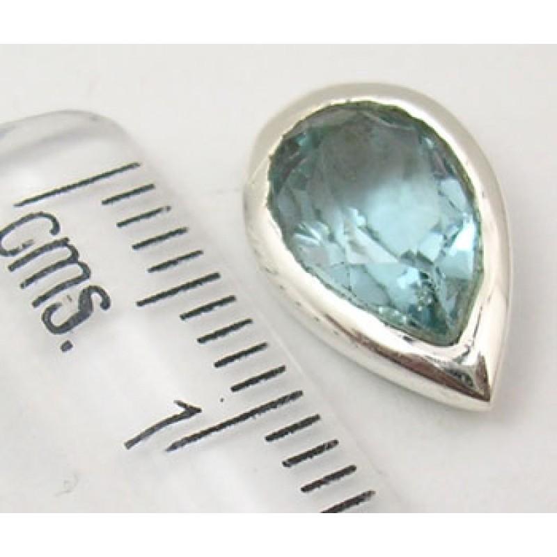 ... Stříbrné náušnice modrý topaz kapka 3176fb4d4f6